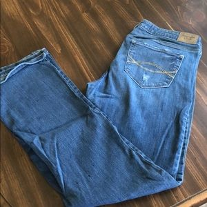 A&F bootcut jeans